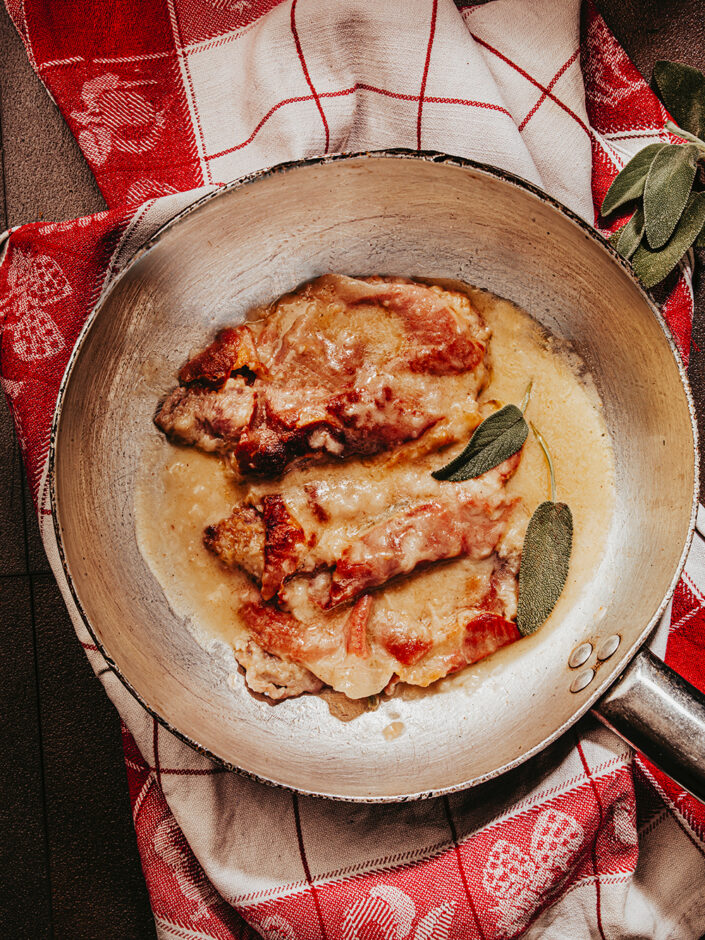 maccheroni saltimbocca